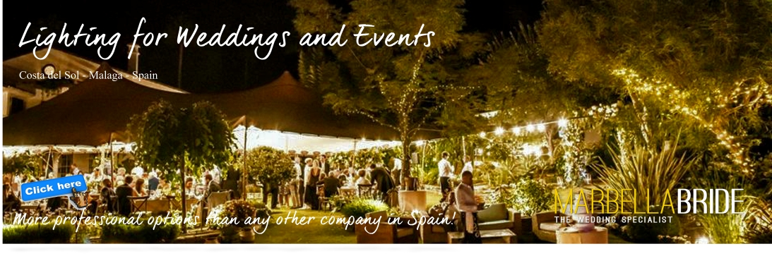 Wedding and event lighting Marbella