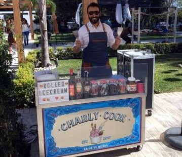 Ice cream stall for weddings