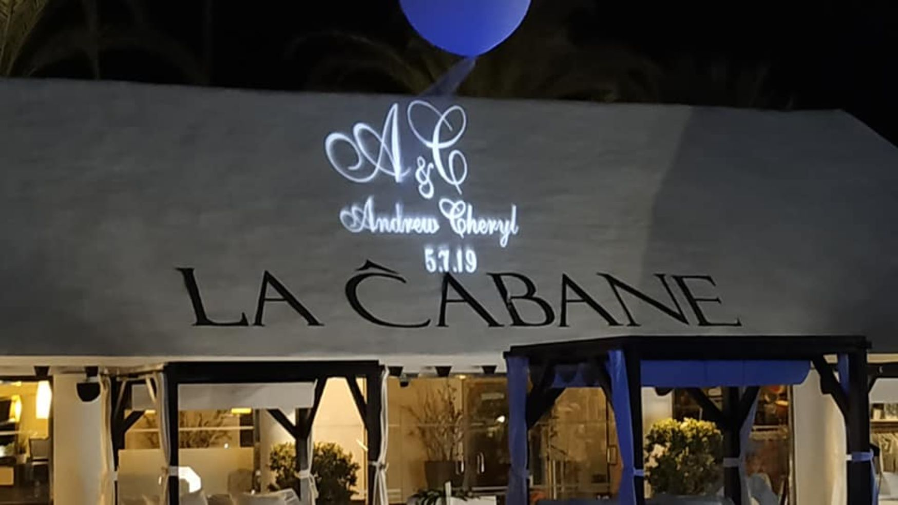 Name in lights Marbella